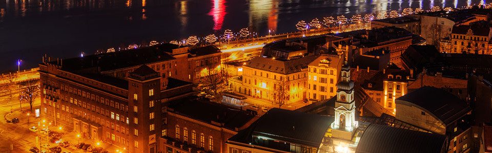 Riga city at night